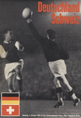 Football Programme Switzerland V Germany 1959