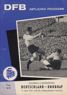 Football Programm Germany V Uruguay 1962