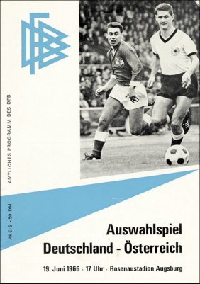 Football Programm 1966. Germany V Austria