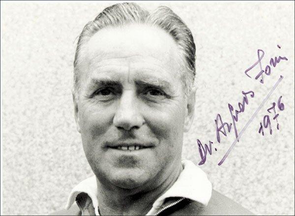 7578: Autograph Football WC 1938 Italy. Alfredo Foni