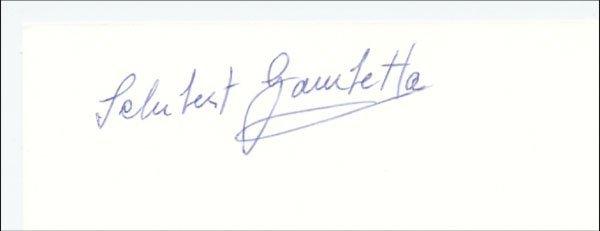 7579: Autograph Football WC 1950. Schubert Gambetta
