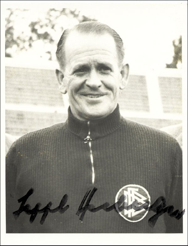 7580: Autograph Football WC 1954 Germany