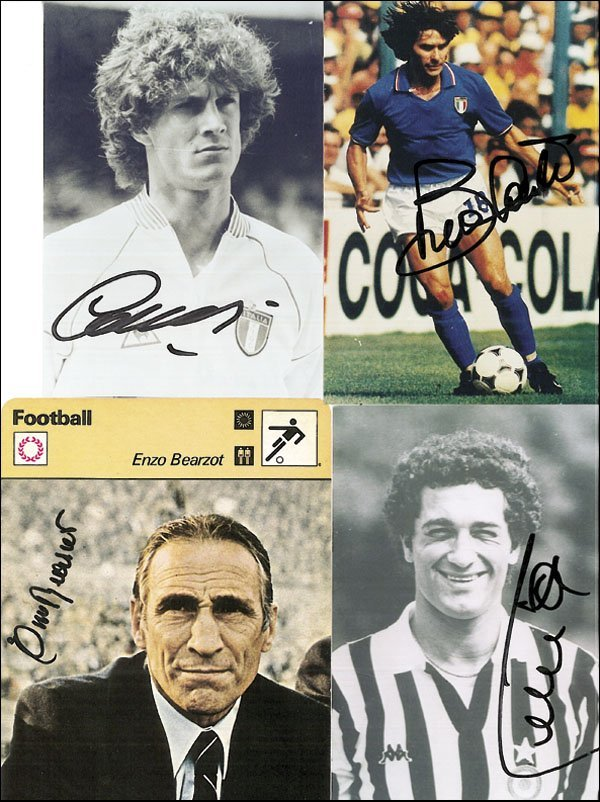 7581: Autograph Football WC 1982 Italy