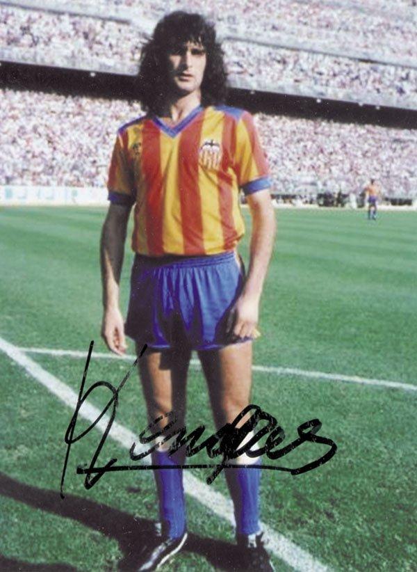 7582: Autographs Football Germany Mario Kempes
