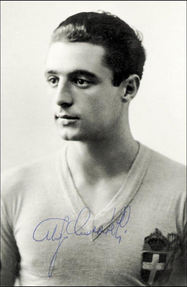 7584: Autograph Football WC 1938. Ugo Locatelli