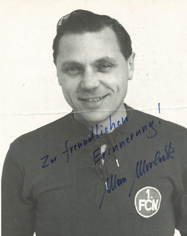 7588: Autograph Football Germany. Max Morlock