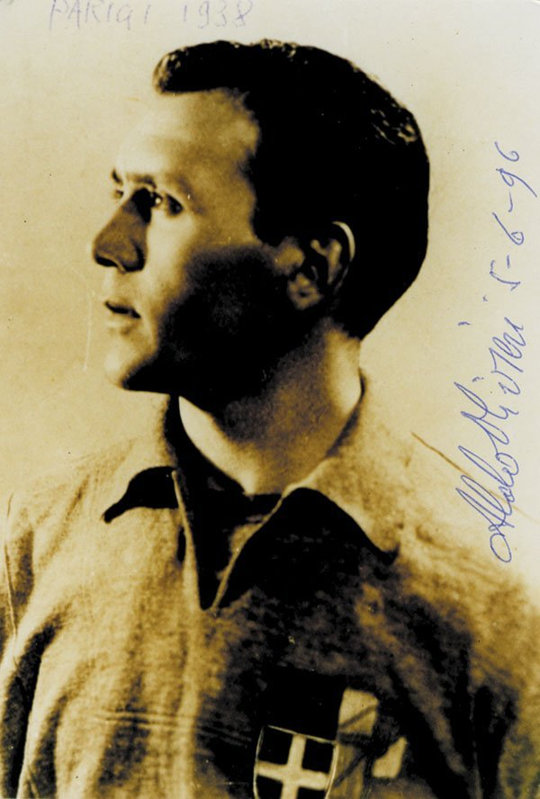 7590: Autograph WC 1938 Italy. Aldo Olivieri