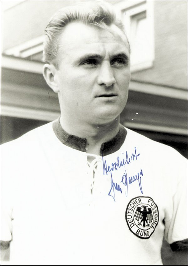 7591: Autograph Football WC 1954 Germany