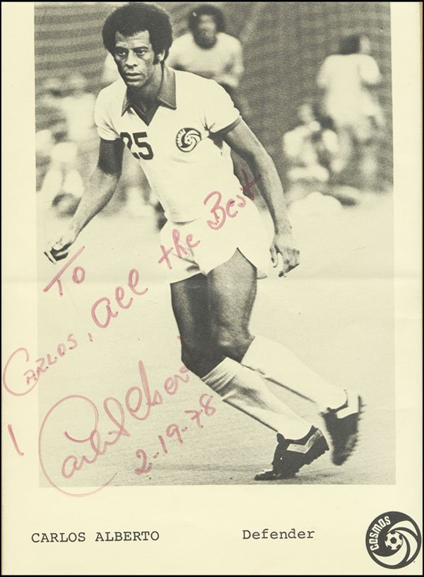 7599: World Cup 1970. Carlos Alberto Autograph
