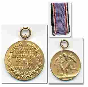 Paticipation medal 1913 Football match Germany v