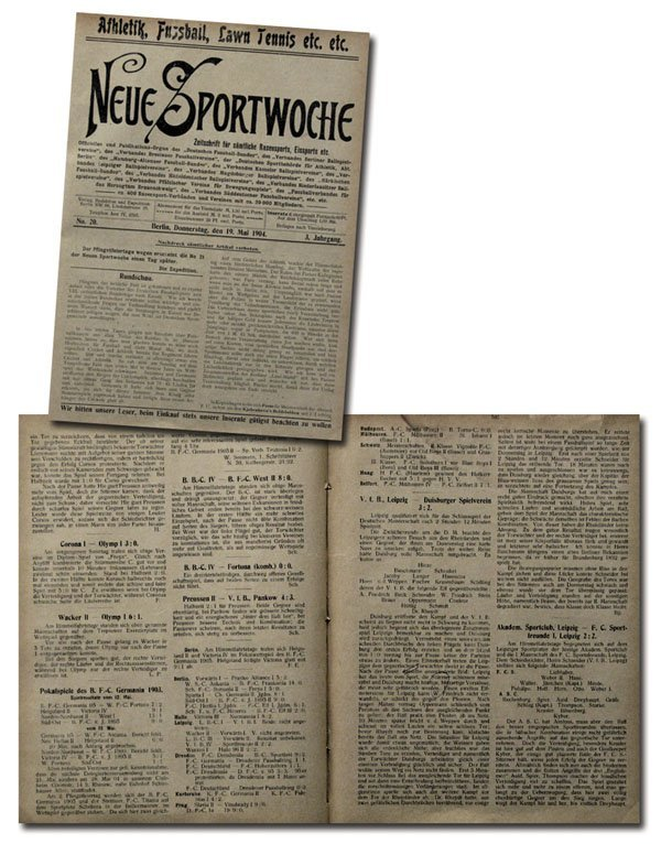 7006: Rare German Football Magazin Neue Sportwoche 1904