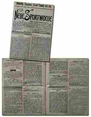 Rare German Football Magazin Neue Sportwoche 1906