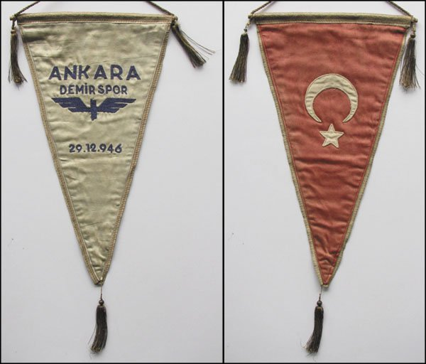 7012: Football Pennant Ankara Demirsport 1946