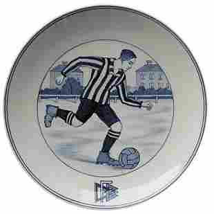 Porcelan Plate Meissen 1925. German Football Asso