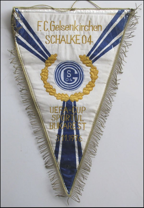 7014: Schalke 04 Football match pennant Eurocup 1976