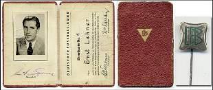 "Rare German football pin ""DFB"" 1950"