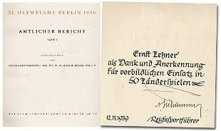 Olympic games Berlin 1936. Official Report
