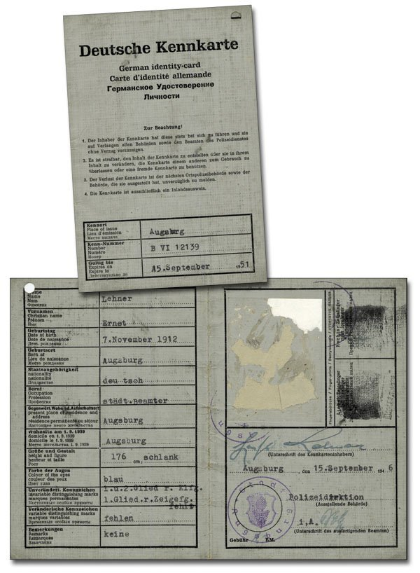 7021: Ernst Lehner German International Passport