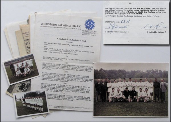 7022: Darmstadt 98 Rare Football documents 1963