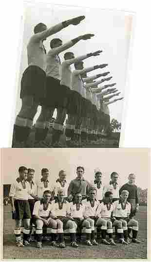 Footballmatch 1934 Germany v Danemark
