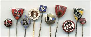 10 German Football Pins from Top Clubs 1950-60
