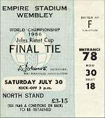 7152: World Cup 1966. Final Ticket Egland v Germany