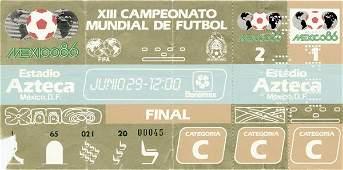7219: World Cup 1986. Final Ticket Germany v Argentina