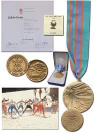 7795: Olympic Winter Games 1988. Winner medal Third pla