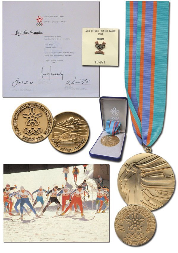 7795: Olympic Winter Games 1988. Winner medal Third pla