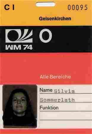 Ausweis WM 1974