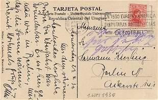 Postkarte WM 1930