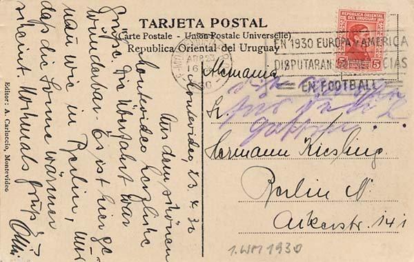 4023: Postkarte WM 1930