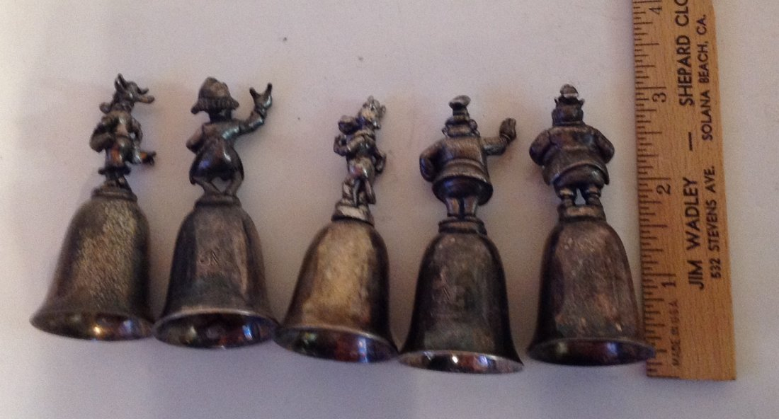 Estate lot of 5 Disney character bells (S) - 2