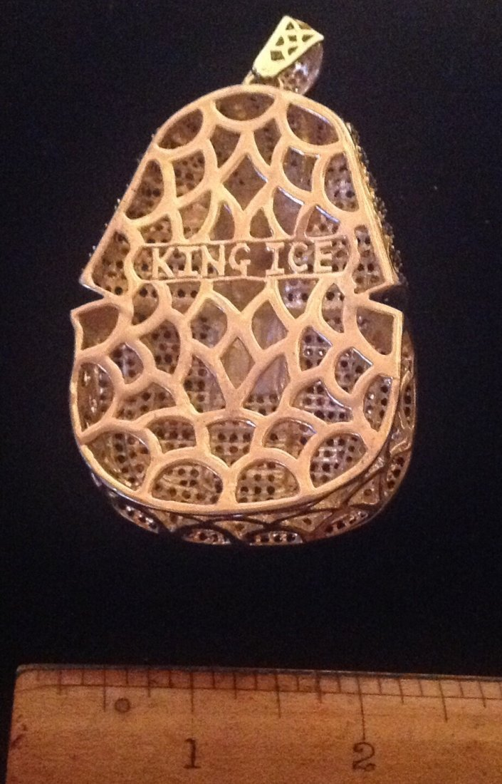 king Ice huge black & clear glass stone pendant (S) - 3