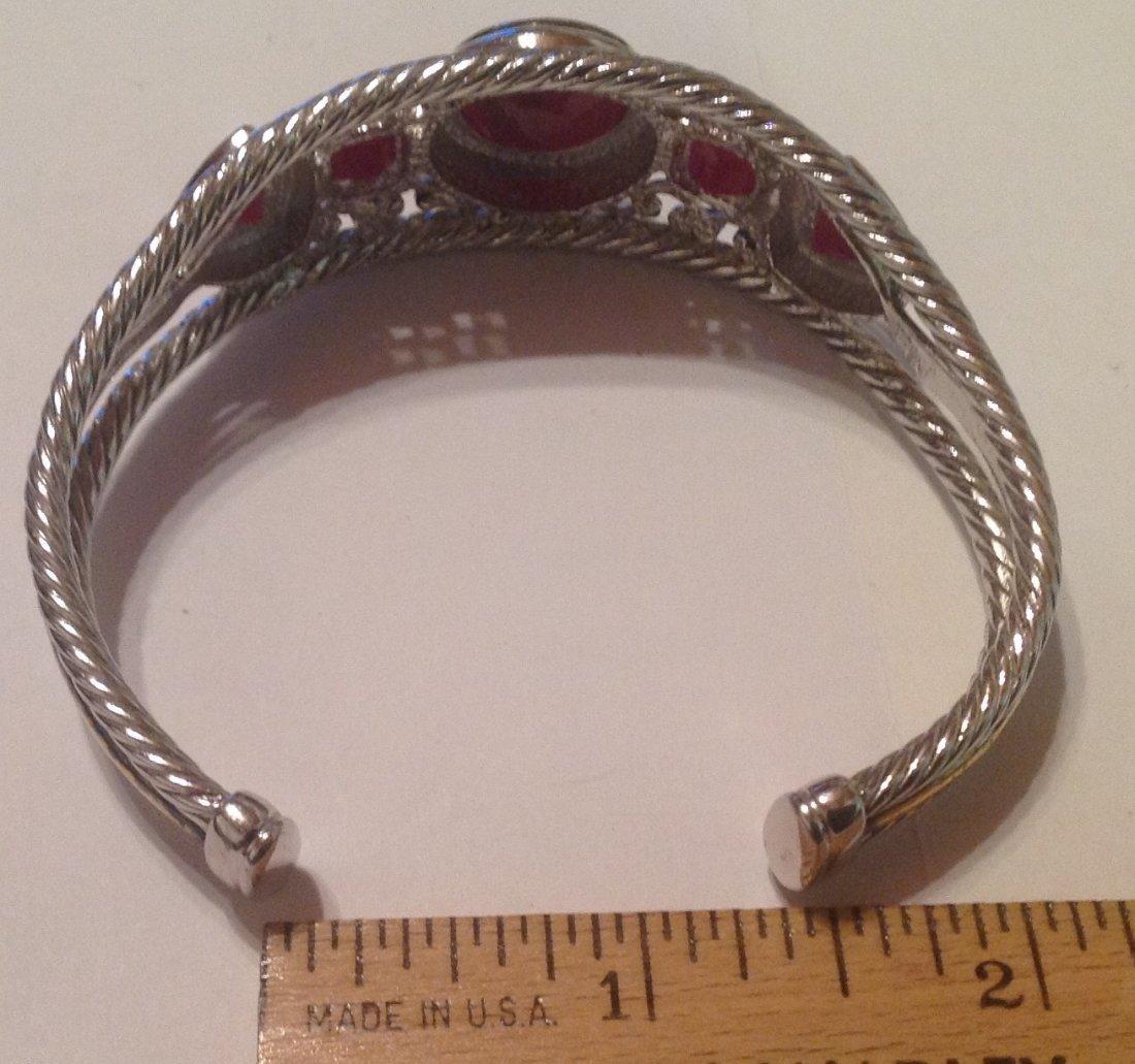 estate vintage Sterling thailand cuff bracelet (S) - 2