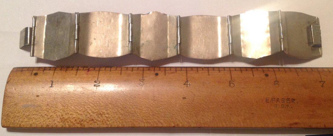 vintage Mexico Sterling large Panel bracelet (S) - 2