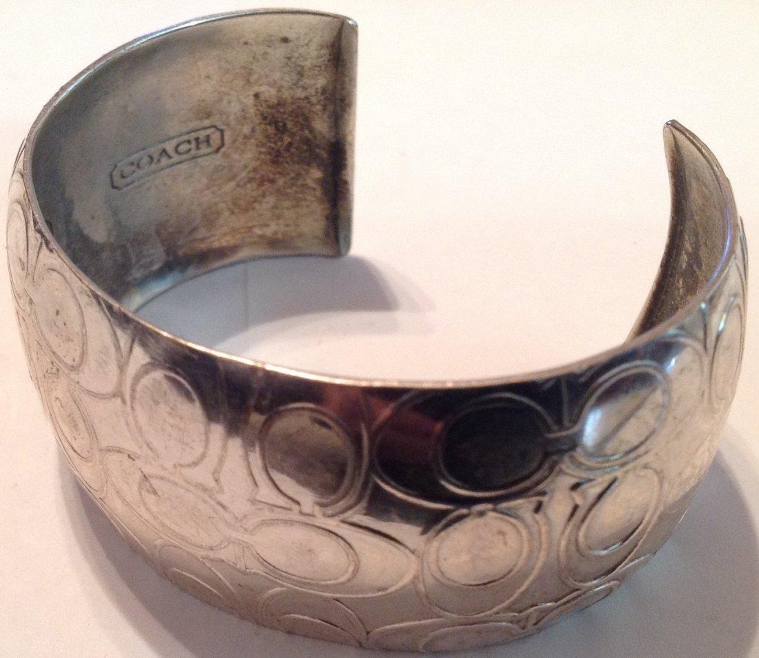 Estate vintage COACH .925 Sterling cuff bracelet (S)