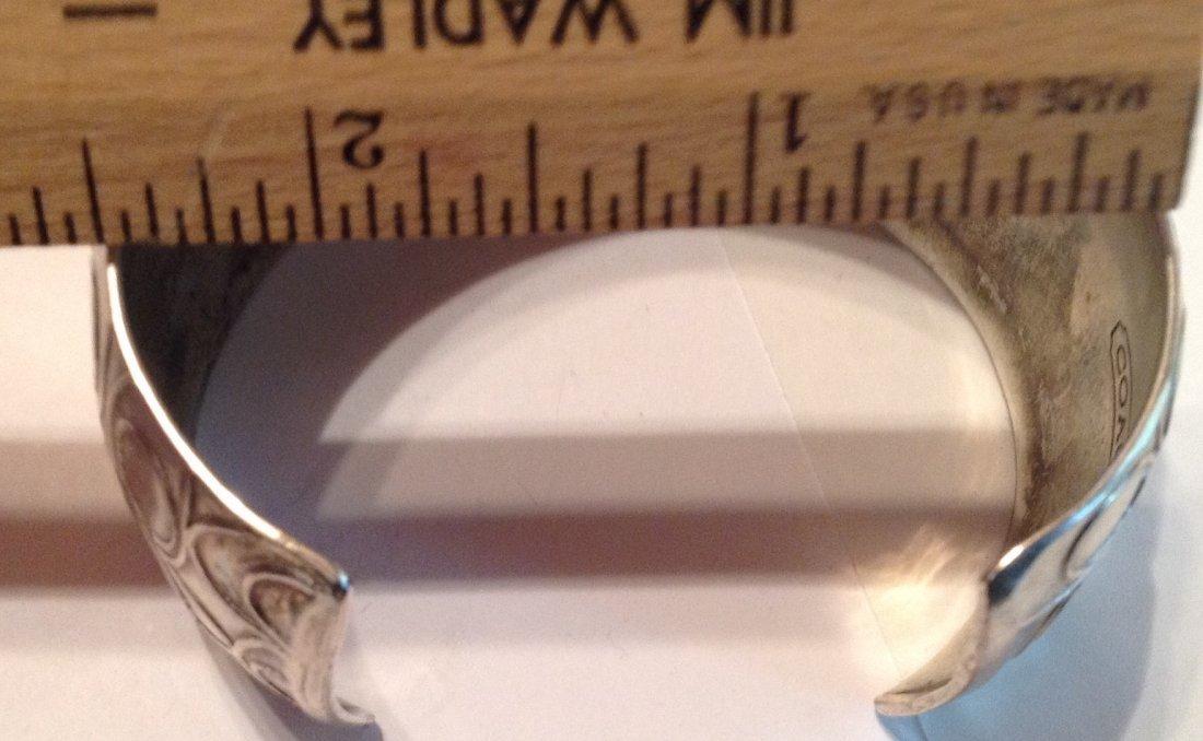Estate vintage COACH .925 Sterling cuff bracelet (S) - 3