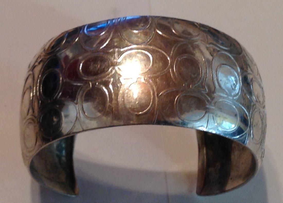 Estate vintage COACH .925 Sterling cuff bracelet (S) - 5