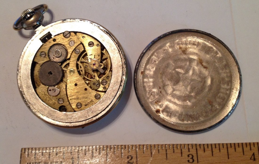 Estate vintage russian USSR pocket watch (S) - 4