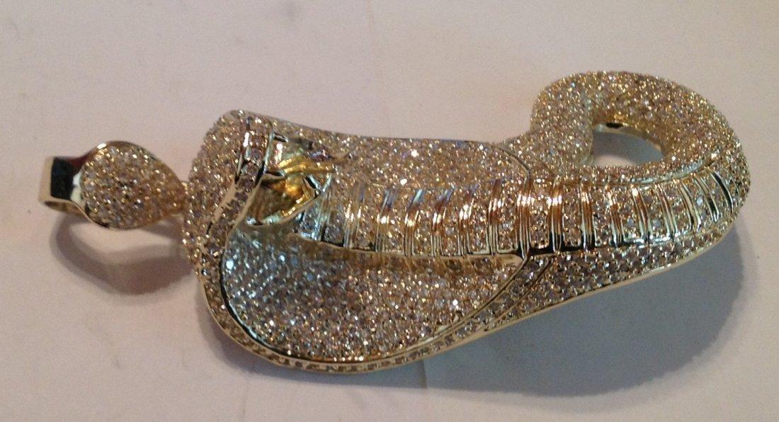 Estate huge king cobra rhinestones pendant   (S) - 2