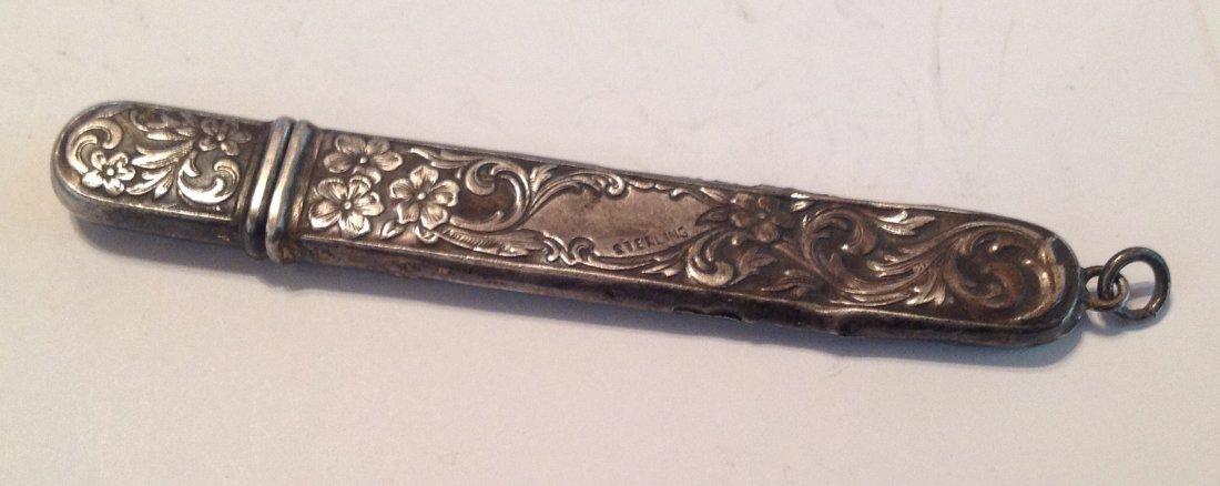 Estate antique Sterling silver repousse file   (S)