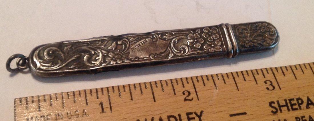 Estate antique Sterling silver repousse file   (S) - 2