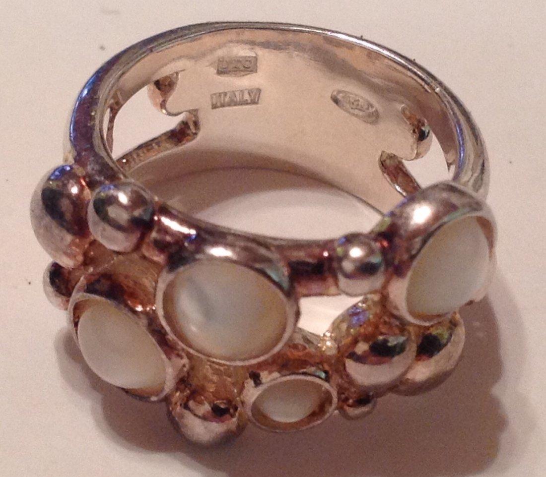 Estate Sterling Silver gemstone signed UTC ring (S)