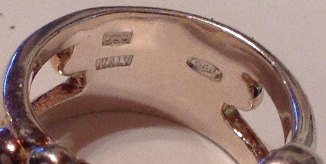 Estate Sterling Silver gemstone signed UTC ring (S) - 2