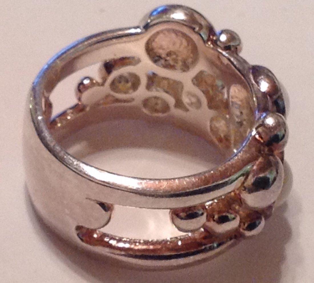 Estate Sterling Silver gemstone signed UTC ring (S) - 3