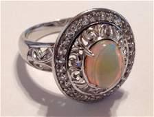 Estate vintage gemstone Sterling silver ring S