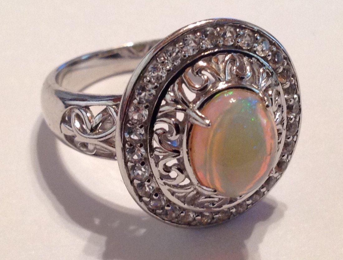 Estate vintage gemstone Sterling silver ring (S)