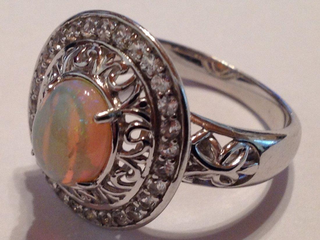 Estate vintage gemstone Sterling silver ring (S) - 2