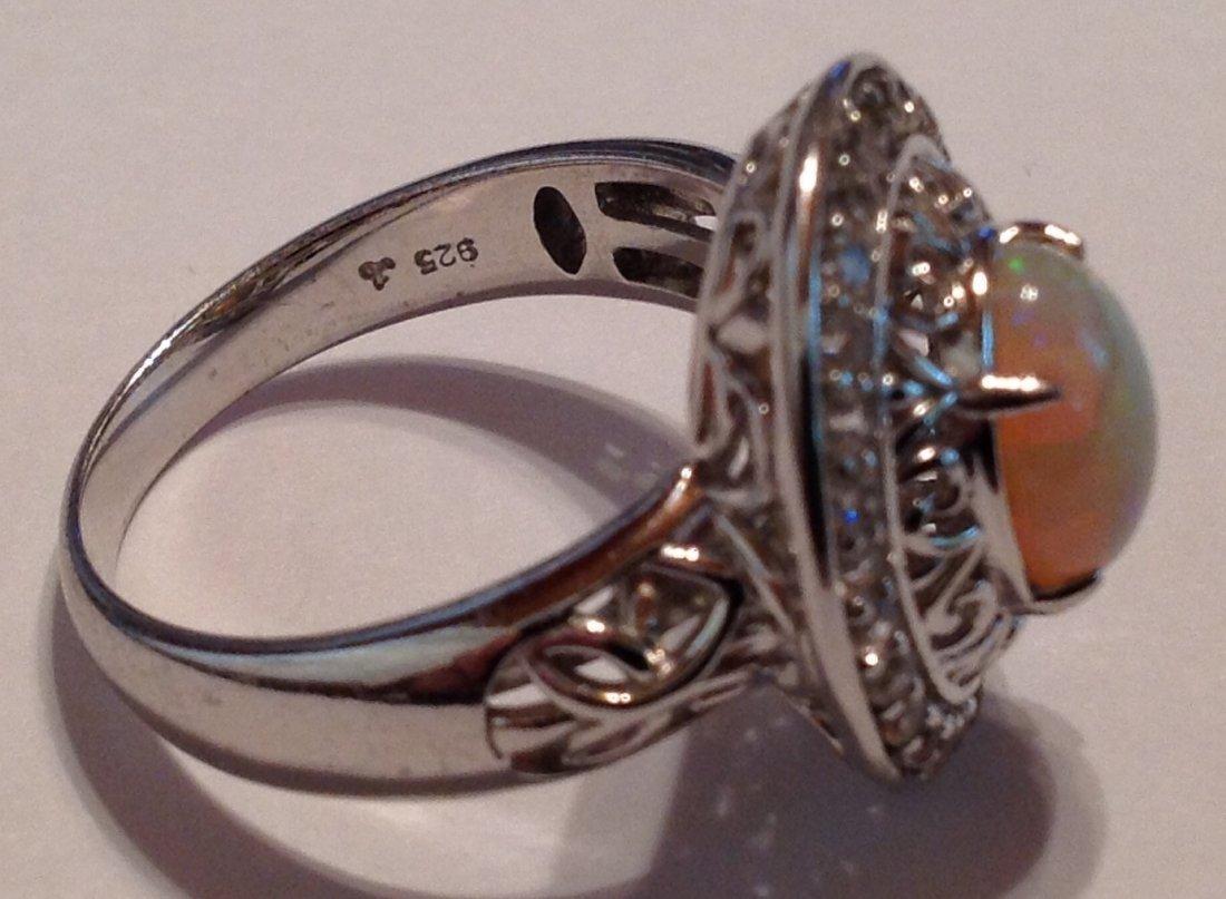 Estate vintage gemstone Sterling silver ring (S) - 3